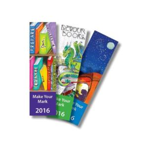 A sample of bookmark designs submitted by Utah students last year.