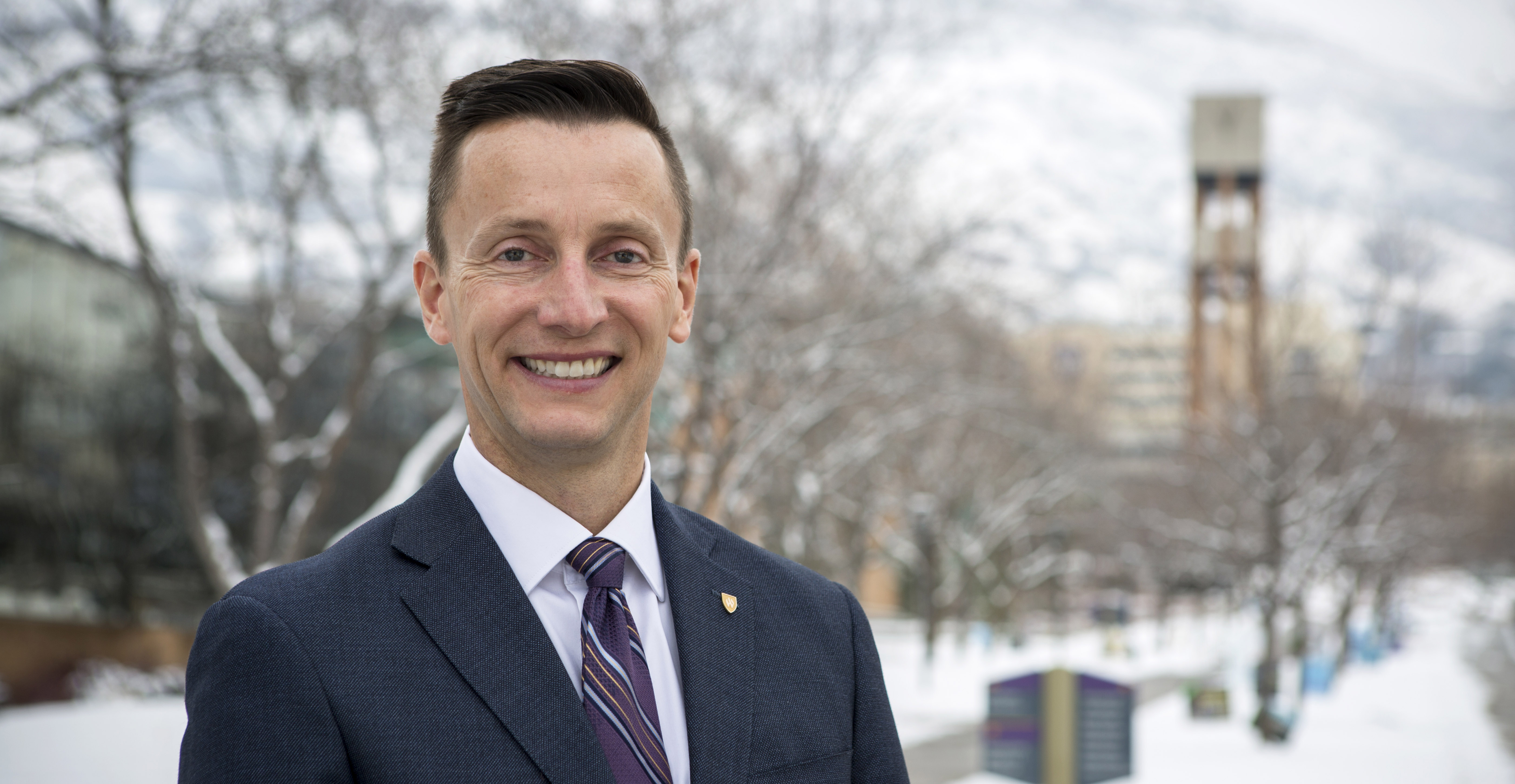 Weber State University president candidate Brad Mortenson. December 5, 2018. Photo by Benjamin Zack